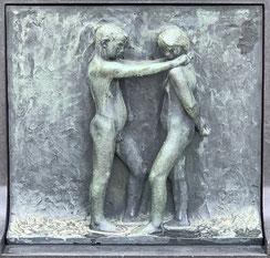 Oslo, Frognerpark, Vigeland Park, Skulpturen, Kunst, Bronze, Granit, Relief
