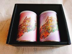 静香園の深蒸し茶100g缶2本詰め合わせ