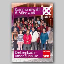 Wahlplakat für die SPD bei der «Kommunalwahl 2016»