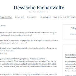 Webseite «Hessische Fachanwälte für Arbeitsrecht e.V.»