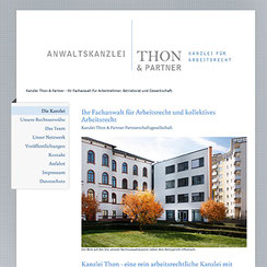 Webseite und IT Support «Kanzlei Thon&Partner»