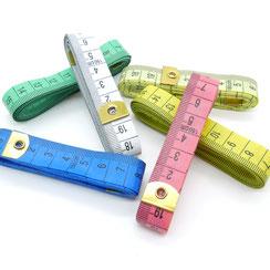 Maßband 150cm - 6 Farben zur Auswahl