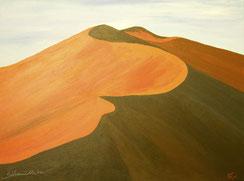 Sossusvlei Dunes Namibia, Acrylbild von silvanillion