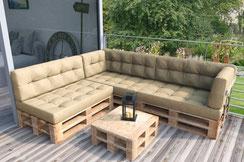 Divano Pallet Esterno : Sdraio con pallet: divani da esterno con pallet divani con bancali