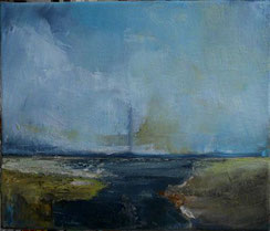 Blackwater, Ölbild mit eitempera-Kern.