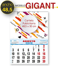 Calendario cartela personalizada 48,5 x 30