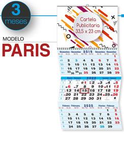 Calendario faldilla 3 MESES (hendidos)