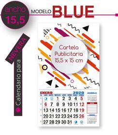Calendario de nevera cartela 15,5 x 15