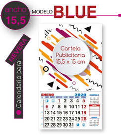 Calendario de nevera cartela 15,5 x 15