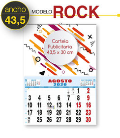 Calendario cartela personalizada 43,5 x 30