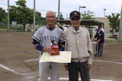最優秀選手賞 鈴木末男(オール東京/品川トータス野球クラブ)