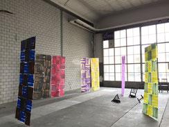 Nadine Seeger, Bildende Künstlerin/Performance Artist (BS), 7 hängende Bilder mit verschiedenen Namen