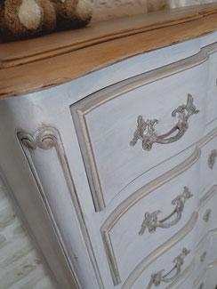 relooking de meubles le mans sarthe chiffonnier merisier louis patine versaille