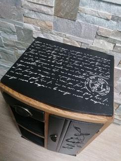 relooking de meuble le mans sarthe chevet meuble d'appoint noir et bois le perche