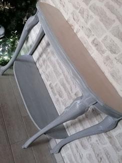 relooking de meuble le mans sarthe console gris patine bois