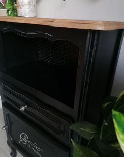 restauration de meuble le mans sarthe noir bois buffet cuisine