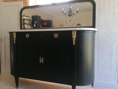 relooking de meuble napoléon le mans sarthe noir doré chic miroir bois