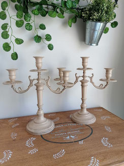 chandelier relooké shabby chic