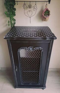 relooking de meuble le mans sarthe meuble hifi noir pois brasserie grillage à poule