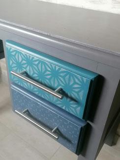 relooking de meubles le mans sarthe bureau gris bleu mandalin