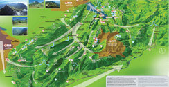 schémas des brises de vallées dans les alpes
