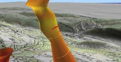 modélisation en 3 dimensions d'un thermique pour le parapente