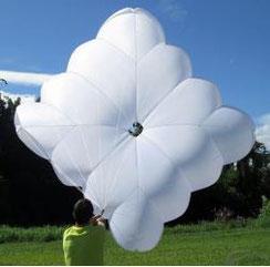 Parachute de secours carré