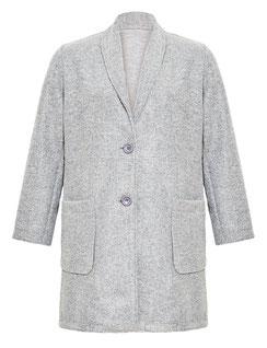 Damen-Mantel grau Größe 48