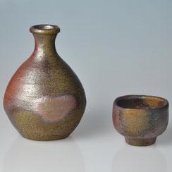 Fujiwara Yû (1932-2001) | Bizen Sake Set
