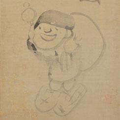 Sengai Gibon (1750-1837) | Painting of Lucky God Daikoku