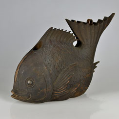 Edo-period, Fish-shaped Counter Balance for Traditional Kettle Hook