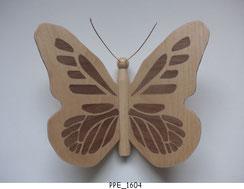 Papillon PPE_1604 - Dessus des ailes marquetées - Dessous des ailes en placage