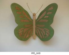 Papillon PPE_1610 - Dessus des ailes marquetées - Dessous des ailes en placage