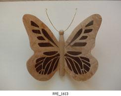Papillon PPE_1613 - Dessus des ailes marquetées - Dessous des ailes en placage