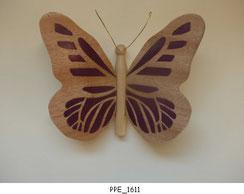 Papillon PPE_1611 - Dessus des ailes marquetées - Dessous des ailes en placage