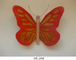 Papillon PPE_1608 - Dessus des ailes marquetées - Dessous des ailes en placage