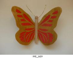 Papillon PPE_1609 - Dessus des ailes marquetées - Dessous des ailes en placage