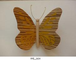 Papillon PPE_1614 - Dessus des ailes marquetées - Dessous des ailes en placage