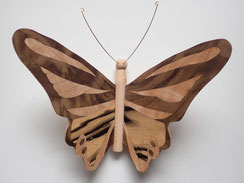 Papillon PPA_1604 - Ailes marquetées sur les 2 faces