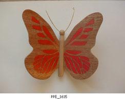 Papillon PPE_1615 - Dessus des ailes marquetées - Dessous des ailes en placage