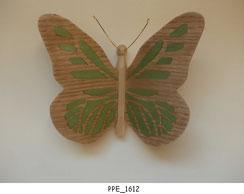 Papillon PPE_1612 - Dessus des ailes marquetées - Dessous des ailes en placage
