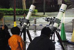 04-11 百貨店の屋上で冬の天体観測会