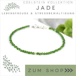 Jade grünes Edelstein Armband und 925 Silber Verschluß