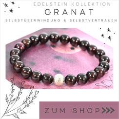 Granat rotes Edelstein Armband und 925 Silber Verschluß
