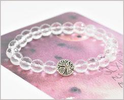 Edelsteinarmband mit Bergkristall  8 mm und Lebensbaum  22,90 €