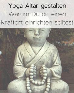 Foto zeigt Buddha mit Mala Kette