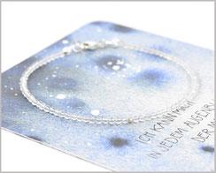 Bergkristall Edelstein Armband 2 mm  925 Silber  34,90 €