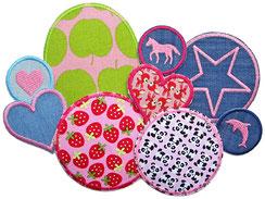 Hosenflicken zum aufbügeln für Kinder in rosa