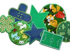 Hosenflicken für Kinder in grünen Farben