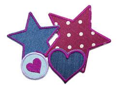 Hosenflicken zum aufbügeln für Mädchen in lila